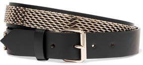 Lanvin Gold-plated Leather Belt