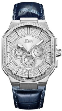 JBW Orion Silver Leather Ladies