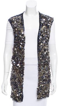 Catherine Malandrino Sequin Open Front Vest w/ Tags