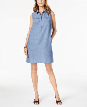 Charter Club Linen Sleeveless Shift Dress, Created for Macy's