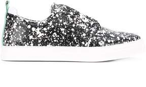 Pierre Hardy paint splatter print sneakers