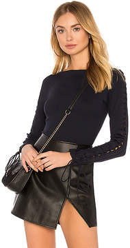 Susana Monaco Laced Sleeve Bodysuit