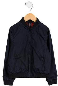 Bonpoint Boys' Reversible Plaid Jacket