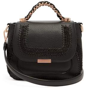 Sophia Webster Eloise Leather Whipstitched Shoulder Bag - Womens - Black