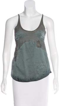 Diesel Sleeveless Embroidered Top