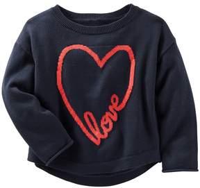 Osh Kosh Girls 4-8 Love Heart Knit Sweater