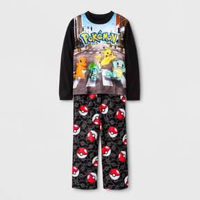 Pokemon Boys' 2 Piece Pajama Set - Black
