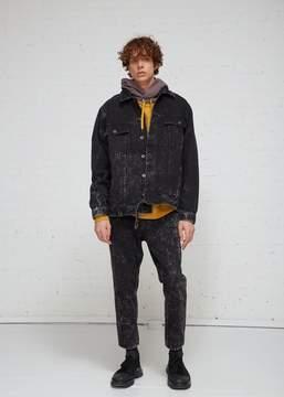 Robert Geller Acid Washed Denim Jacket