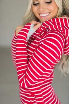 Ampersand Avenue DoubleHoodTM Sweatshirt - Candy Cane
