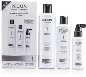 Nioxin System 1 Starter Kit For Fine Hair, Normal to Thin-Looking Hair: Cleanser 300ml + Scalp Therapy Conditioner 150ml + Scalp Treatment 100ml
