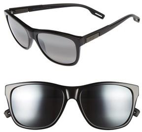 Maui Jim Men's Howzit 56Mm Polarized Gradient Sunglasses - Gloss Black