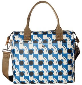 Orla Kiely Poppy Cat Print Zip Messenger