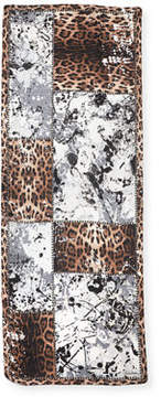 Roberto Cavalli Animal & Splatter Paint Silk Scarf
