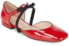 Marc Jacobs Alyssa Leather Mary Jane Ballerina Flats