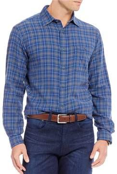 Daniel Cremieux Sologne Slim-Fit Plaid Vintage Twill Long-Sleeve Woven Shirt