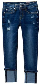 7 For All Mankind The Ankle Deep Cuff Skinny Jeans (Big Girls)