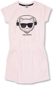 Karl Lagerfeld Little Girl's Graphic T-shirt Dress