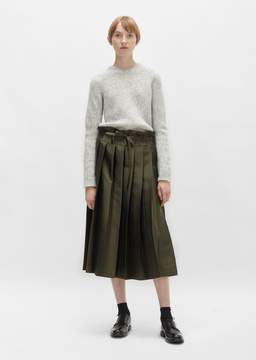 Sara Lanzi Double Pleated Skirt Green