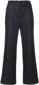 Agnona cropped flared jeans