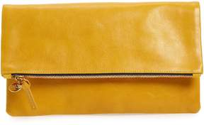 Clare Vivier Leather Foldover Clutch