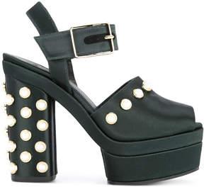 Castaner pearl embellished platform sandals