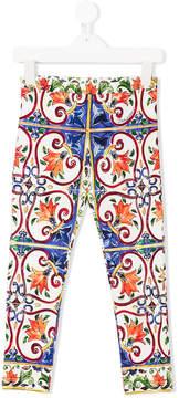 Dolce & Gabbana Majolica print leggings