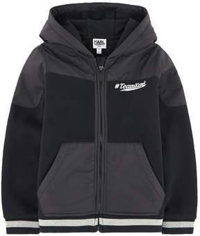 Karl Lagerfeld Team bi-material hoodie