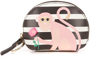 Kate Spade Rambling Roses Collection Striped Monkey with Rose Dumpling Coin Purse - MULTI - STYLE