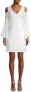 Donna Ricco Women's Cold-Shoulder Bell Sleeve Dress