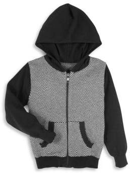 Andy & Evan Toddler, Little Boy's & Boy's Herringbone Cotton Hooded Sweater