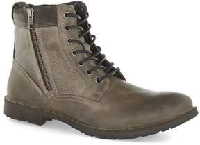 Topman Gray Leather Zip Boots