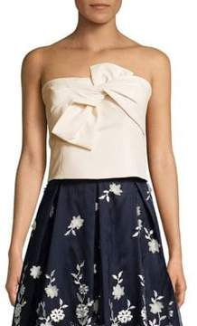 Eliza J Strapless Bow-Front Top