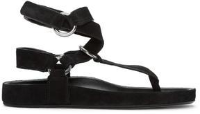 Isabel Marant Black Suede Loig Easy Chic Sandals