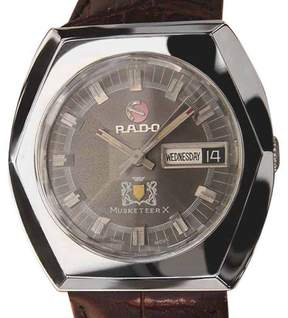 Rado Musketeer X Swiss Made Stainless Steel Automatic Mens 36mm Watch 1960s