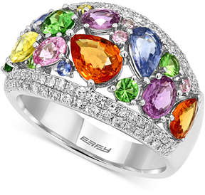 Effy Multi-Stone (4 ct. t.w.) and Diamond (1/2 ct. t.w.) Ring in 14k White Gold