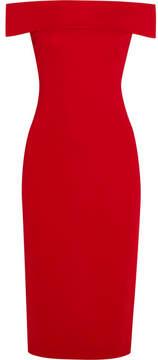 Cushnie et Ochs Layla Off-the-shoulder Stretch-cady Dress - Red