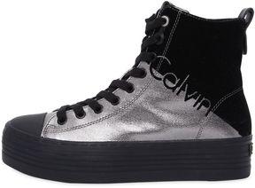 Calvin Klein Jeans 40mm Zazah Metallic Canvas Sneakers