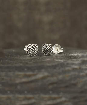 Celtic Sterling Silver Knot Stud Earrings