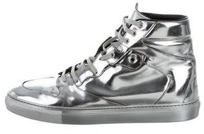 Balenciaga Metallic High-Top Sneakers