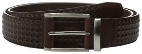 Stacy Adams Fidello 35mm Diamond Embossed Belt Men's Belts