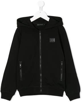 Antony Morato zip-up logo hoodie