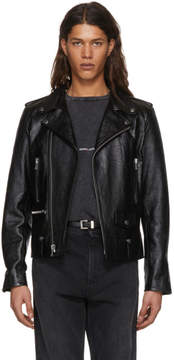 Saint Laurent Black Leather LL-1 Moto Jacket