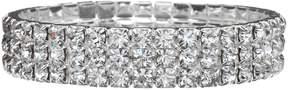 Cezanne Three-Row Crystal Stretch Bracelet