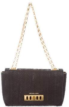 Michael Kors Python Shoulder Bag - BLACK - STYLE