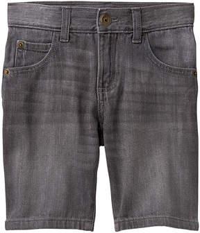 Gymboree Slate Denim & Denim Flatfront Shorts - Boys