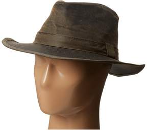 San Diego Hat Company CTH3730 2.25 Distressed Wide Brim Fedora with Self Band Fedora Hats