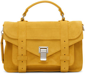 Proenza Schouler Orange Suede Tiny PS1 Satchel