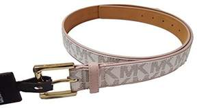 Michael Kors Signature White Belt Pink Trim Gold Buckle (XL)