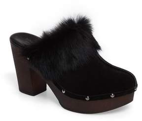 Donald J Pliner Women's Willo Genuine Rabbit Fur Mule