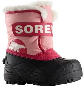 Sorel Pink Snow Commander Velcro Boots